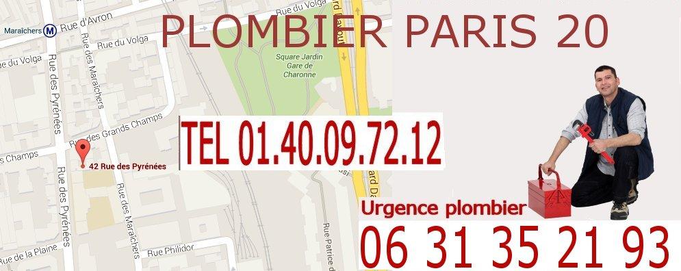 Plombier Paris 20