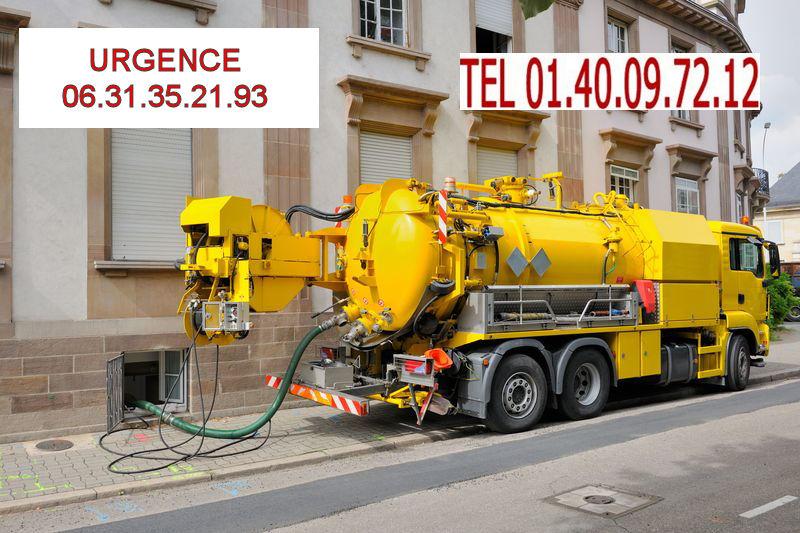 camion pompe degorgement Paris 20